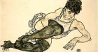 Egon Schiele - Reclining Woman with Green Stockings (Adele Harms)
