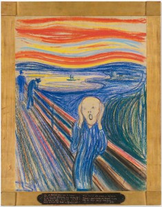 Edvard Munch, 'Scream' pastel on paper