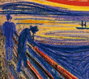 Edvard Munch, 'Men on the Bridge'