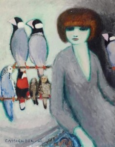 Elegante Avec Perroquets - Art Miami - galleryIntell