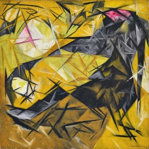 Natalia Goncharova, 'Koshki' - Cats on view at 'Inventing Abstraction 1910 - 1925' at MoMA