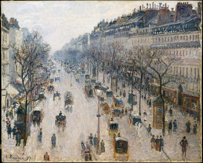 Camille Pissarro, The Boulevard Montmartre on a Winter Morning, 1897, Metropolitan Museum, New York