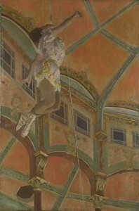 Edgar Degas, Miss La La at the Cirque Fernando. Morgan Library and Museum