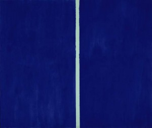 Barnett Newman. Onement VI. Image courtesy of Sotheby's
