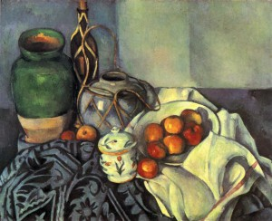 Paul Cezanne, 'Still Life With Apples', 1894. Oil on canvas. In the collection of the J. Paul Getty Museum, Los Angeles