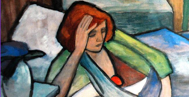 Gabriele Munter, Malade (Krank) 1917
