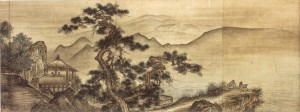 Landscape painting in the Chinese style by Shûgetsu