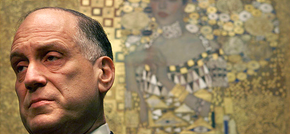 Ronald Lauder in Front of Gustav Klimt's Adele Bloch Bauer I, 1907 Photo ©The New York Times