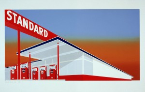 Ed Ruscha - Standard Station (Red)