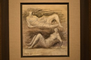 Henry Moore Drawing at Osborne Samuel Gallery - Art Southampton 2013