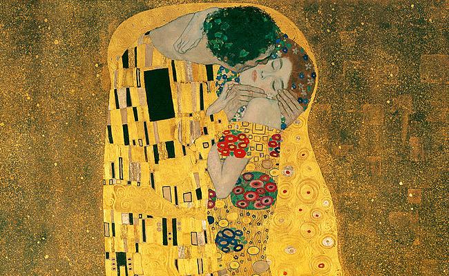 Gustav Klimt The Kiss, 1907