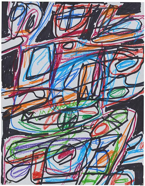 Activation V, December 16, 1984. Colored pencil and ink on paper. © Jean Dubuffet, Image courtesy of Collection Fondation Dubuffet