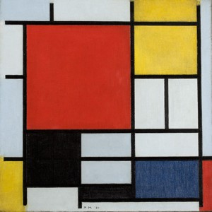Piet Mondrian, 'Composition with Large Red Plane, Yellow, Black, Gray and Blue', 1921. Oil on canvas
