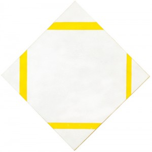 Piet Mondrian, 'Lozenge - Composition with Four Yellow Lines', 1933. Oil on canvas