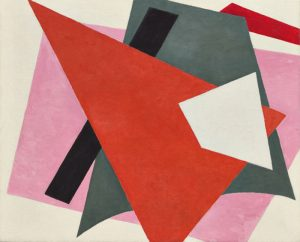 Lyubov Popova, 'Painterly Architechtonic', 1917. Oil on canvas. On view at 'Inventing Abstraction 1910 - 1925' Image courtesy Museum of Modern Art