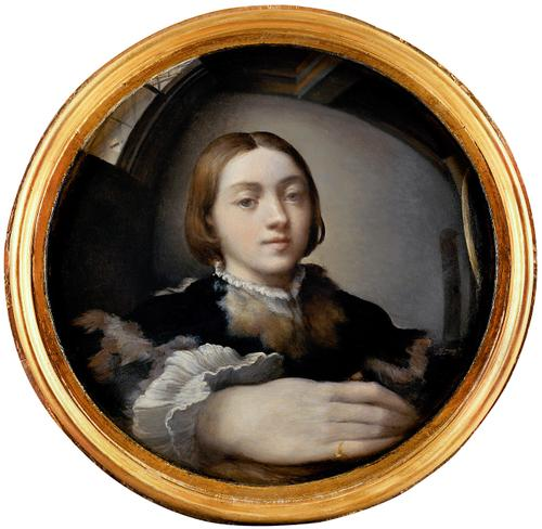 Parmigianino Self-portrait in convex mirror