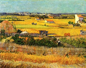 Vincent can Gogh, 'Harvest at La Crau', 1888. Van Gogh Museum, Amsterdam