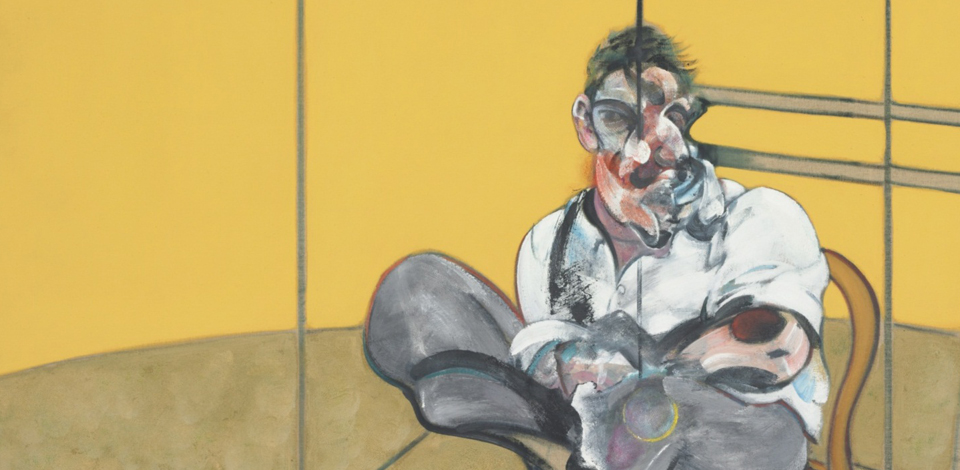 Francis bacon Portrait of Lucian Freud, Center Panel