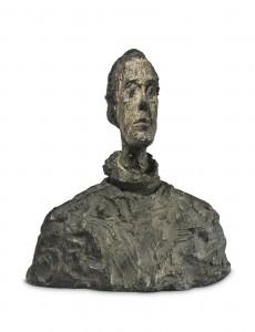 Giacometti - Tête de Diego au col roulé