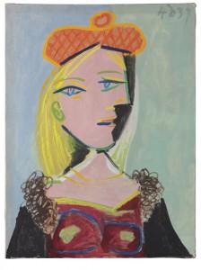 Picasso Femme au Béret Orange et au Col de Fourrure (Marie-Thérèse) Pablo Picasso