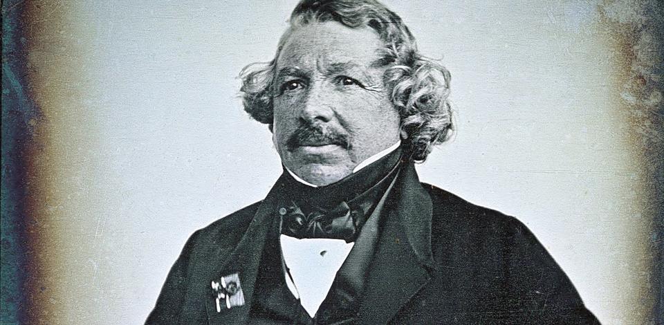 Louis Daguerr'e self portrait using a daguerrotype on ArtEx