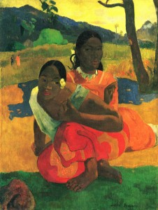 Paul Gauguin, 'Nafea Faa Ipoipo', 1892. Oil on canvas. Private collection