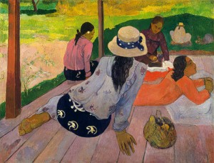Paul Gauguin, 'The Siesta', 1894. Oil on canvas. In the collection of the Metropolitan Museum of Art