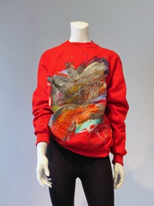"Jean-Michel Basquiat, Christie's. Red ""Kline"" sweater"
