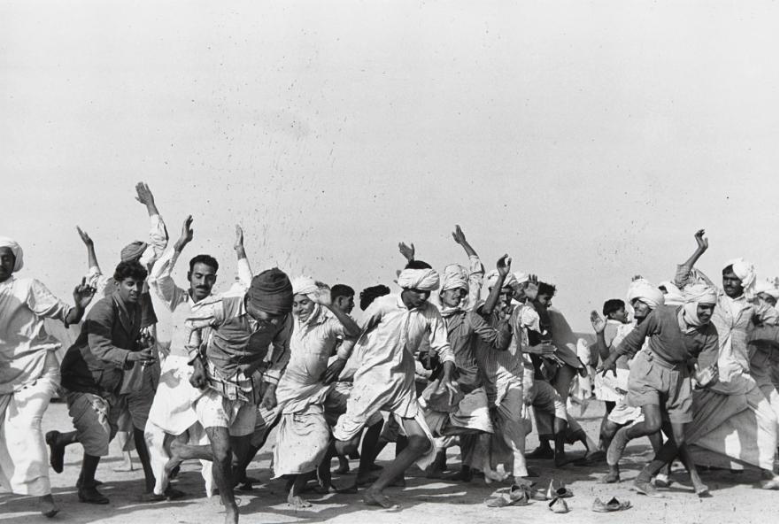HENRI CARTIER-BRESSON Games in a refugee camp at Kurukshetra, Punjab, India, 1947