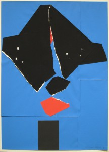 EMERSON WOELFFER A Bird For John, 1981 Torn paper collage. Image courtesy Manny Silverman Gallery