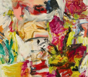 Sotheby's lot 27, Willem de Kooning, Untitled 1975 -77. Image courtesy Sotheby's International. © ARS