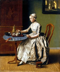 Jean-Etienne Liotard, A Lady Pouring Chocolate, Pastel on paper