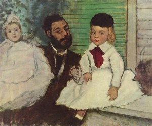 Edgar Degas, 'Lepic and his daughters', 1871. Oil on canvas