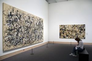 Pollock, Marca-Relli at the Met Museum. Photograph © Kristina Nazarevskaia