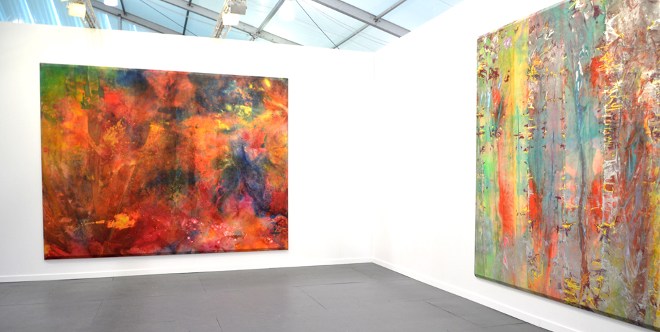Sam Gilliam, Installation view of David Kordansky Gallery's booth at Frieze New York. Image galleryIntell