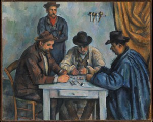 Cezanne's Card Players - one of the hi-res images available for free download through the Metropolitan Museum of Art's Open Access for Scholarly Content (OASC) initiative.