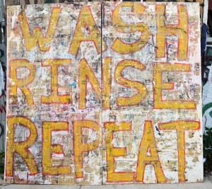 Wash, Rinse, Repeat. Street art Bushwick Open Studios 2014. Photograph © Kristina Nazarevskaia