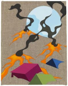 A View, 2014 Eske Kath, Acrylic on unprimed linen