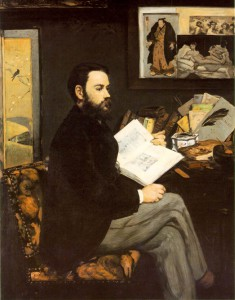 Edouard Manet, 'Portrait of Emile Zola', 1868. Oil on canvas