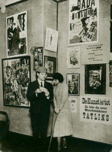 Hannah Hoech and Raoul Hausmann at First International Dada Fair, Berlin 1920