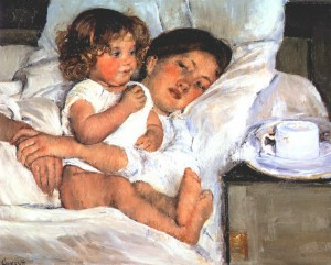 Mary Cassatt, 'Breakfast in Bed', 1897. Oil on canvas