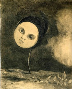 Odilon Redon, Head on a Stem, Collection of the Art Institute of Chicago