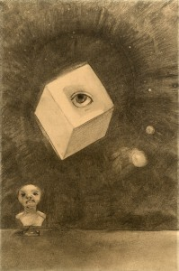 Odion Redon, Le Cube, Lithograph