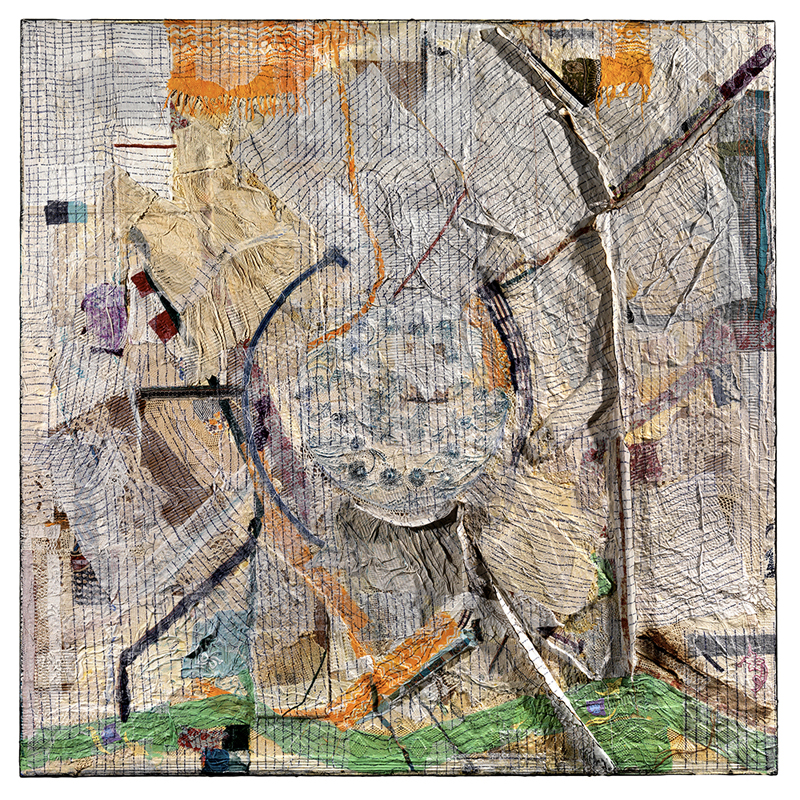 Peter Sacks, Aftermath 12. Mixed media 72 x 72 inches.© Peter Sacks Courtesy the artist and Robert Miller Gallery