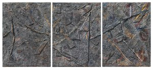 Peter Sacks, West Cliff, Triptych. Acrylic and mixed media on canvas 96 x 216 inches. © Peter Sacks Courtesy the artist and Robert Miller Gallery