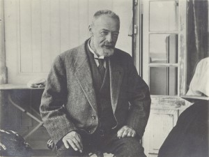 Ferdinand Hodler in his studio