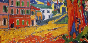 Restaurant de la Machine at Bougival by Maurice de Vlaminck