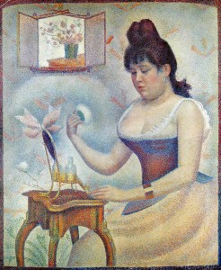 Georges Seurat, Young Woman Powdering Herrself, 1889-90