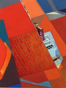 Mary Lum, Neighborhood 2014. Acrylic and photo fragments on paper. © Mary Lum, Courtesy of the Artist and Yancey Richardson Gallery