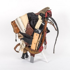Charles McGill, Goat, Bull, Rooster, Horse, 2015, Reconfigured golf bags